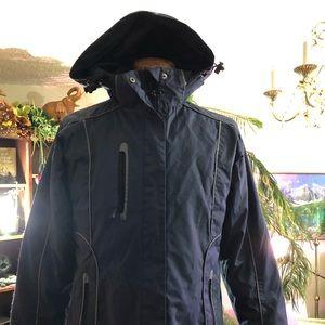 Boys navy blue winter jacket. small, like new.